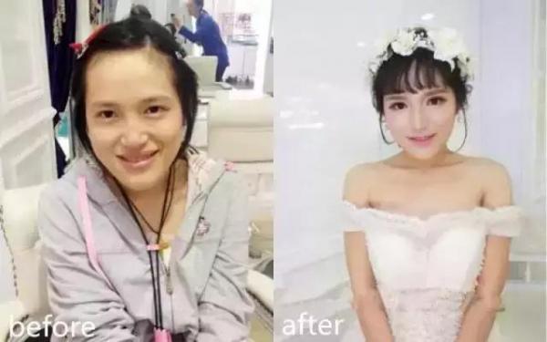 新娘結婚當天卸妝後,老公看了全淚崩!尤其第1位,實在令人超震驚!看到了她的真面目後,讓我從椅子上跌了