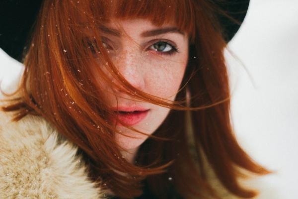 woman wearing fur coat